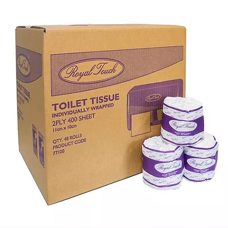 ROYAL TOUCH TOILET TISSUE - 2PLY - 400 SHEET-Royal Touch-Task Supplies