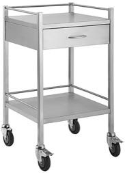 SINGLE SHELF TROLLEY - 1 DRAW-TASK-Task Supplies