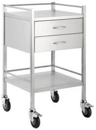 SINGLE SHELF TROLLEY - 2 DRAW-TASK-Task Supplies