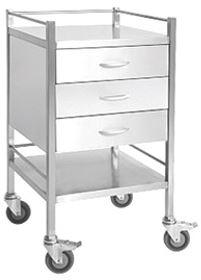SINGLE SHELF TROLLEY - 3 DRAW-TASK-Task Supplies