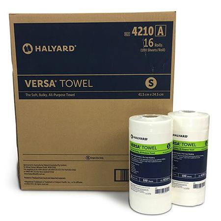 VERSA TOWEL - SMALL - 16 ROLLS-HALYARD-Task Supplies