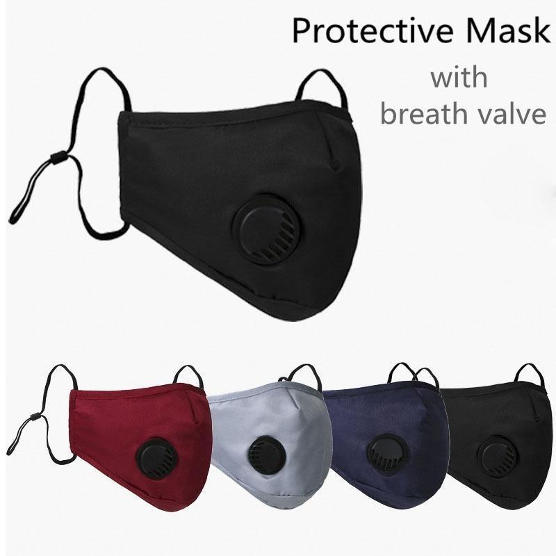 WASHABLE & REUSABLE PM2.5 FILTER FACE MASK WITH BREATHING VALVE-REUSABLE FACE MASK-Task Supplies