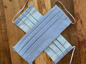 LIGHT BLUE HOUNDSTOOTH - LARGE