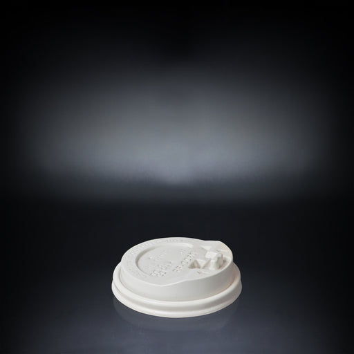 Plastic Coffee Cup Dome Lid with Modern White Design 80mm - Laser Food Packaging Malaysia SDN. BHD.
