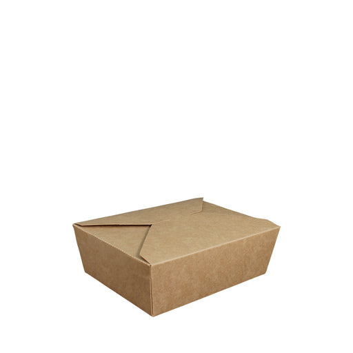 Paper Lunch Box Brown Kraft 1 Compartment 600ml - Laser Packaging Malaysia SDN. BHD