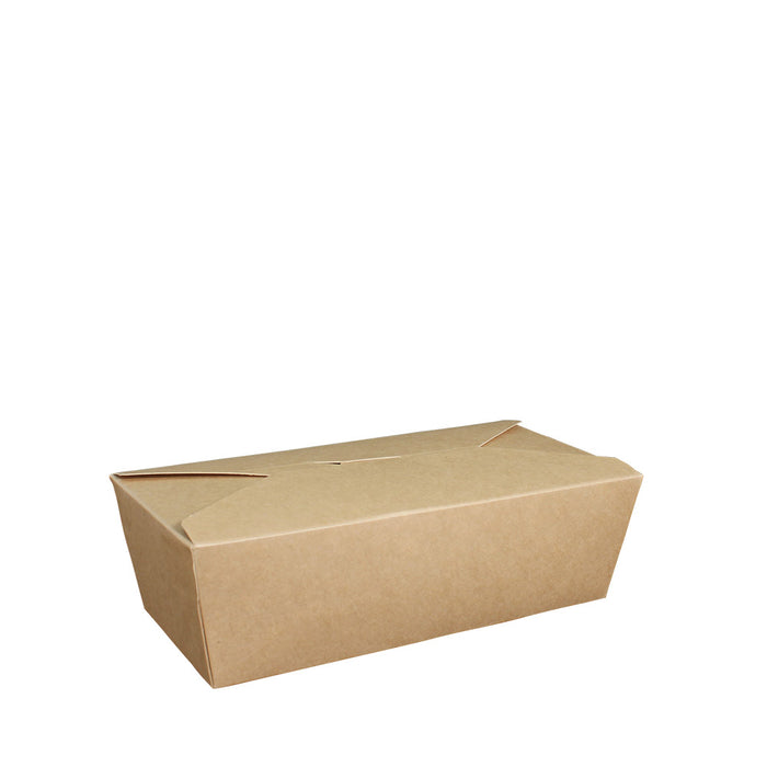 Paper Lunch Box Brown Kraft 1 Compartment 1000ml - Laser Food Packaging Malaysia SDN. BHD.