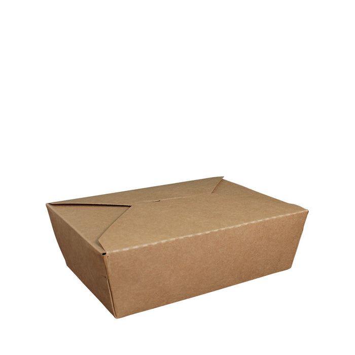 Paper Lunch Box Brown Kraft 1 Compartment 1500ml - Laser Packaging Malaysia SDN. BHD