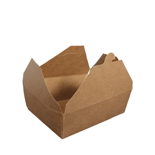 Paper Lunch Box Brown Kraft 1 Compartment 1500ml - Laser Food Packaging Malaysia SDN. BHD.