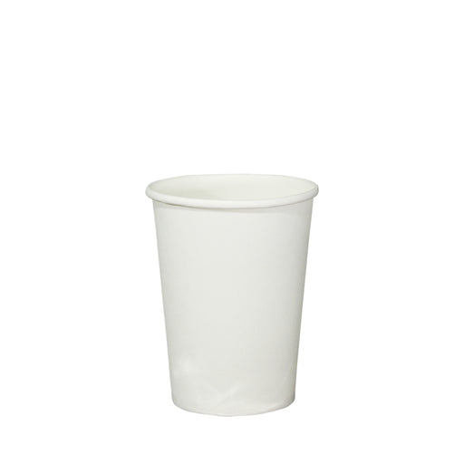 Single Wall White Paper Hot Coffee Cup 8oz 80mm Diameter - Laser Packaging Malaysia SDN. BHD
