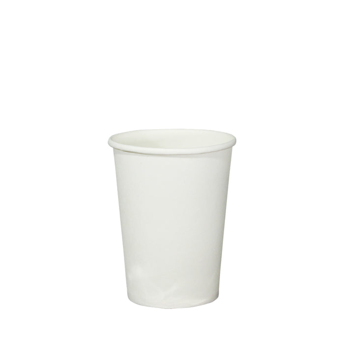 Single Wall White Paper Hot Coffee Cup Generic 8oz 80mm Diameter - Laser Packaging Malaysia SDN. BHD