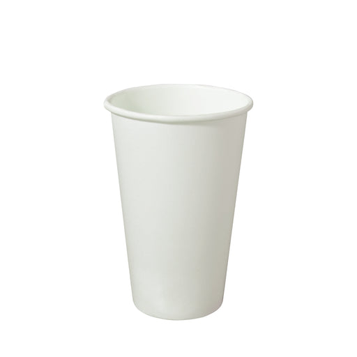 Single Wall White Paper Hot Coffee Cup 16oz 90mm Diameter - Laser Packaging Malaysia SDN. BHD