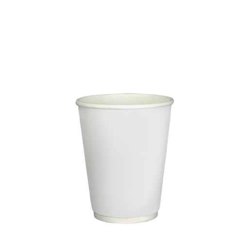 Double Wall White Paper Hot Coffee Cup 8oz 80mm Diameter - Laser Packaging Malaysia SDN. BHD
