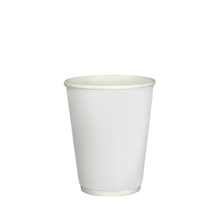 Double Wall White Paper Hot Coffee Cup 12oz 90mm Diameter - Laser Packaging Malaysia SDN. BHD