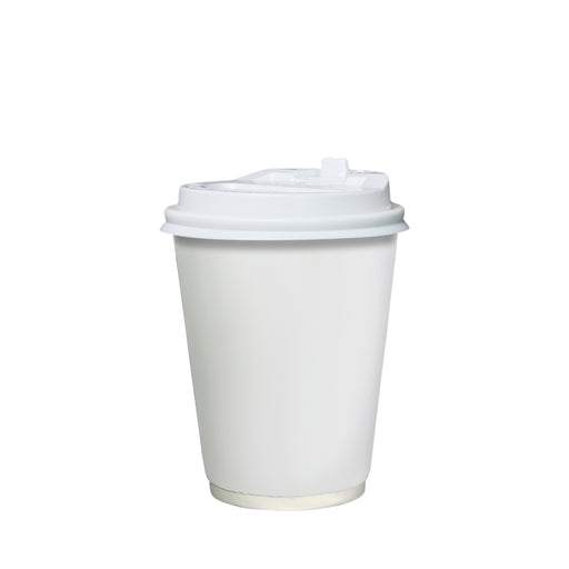 Double Wall White Paper Hot Coffee Cup 12oz 90mm Diameter - Laser Food Packaging Malaysia SDN. BHD.