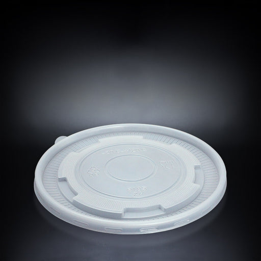 Plastic Flat Lid for Paper Bowls with Semi Clear Design 185mm - Laser Food Packaging Malaysia SDN. BHD.