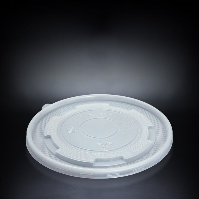 Plastic Flat Lid for Paper Bowls with Semi Clear Design 185mm - Laser Packaging Malaysia SDN. BHD