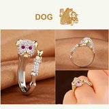 Crystal cute rabbit ring