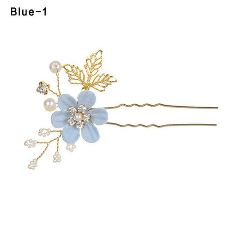 Gold leaf hair accessories hair clip