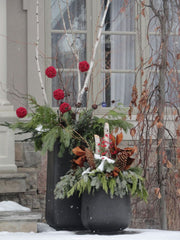 holiday outdoor containers