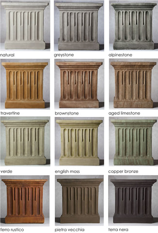 cast stone patinas