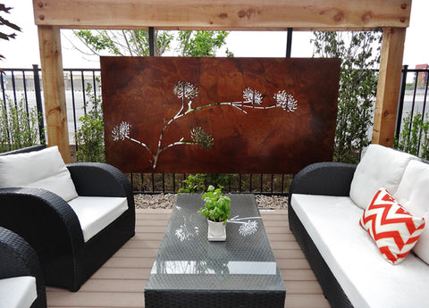 outdoor wall art