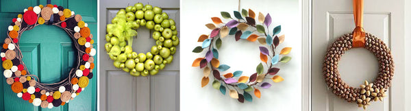 modern outdoor wreath