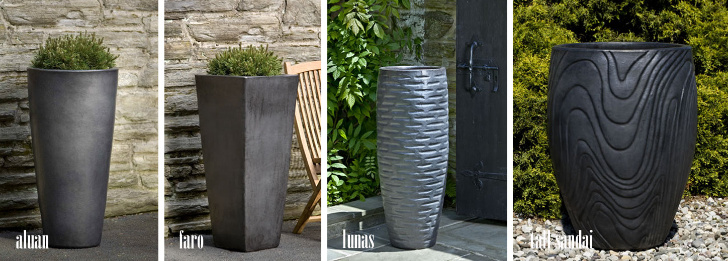 large modern outdoor pots