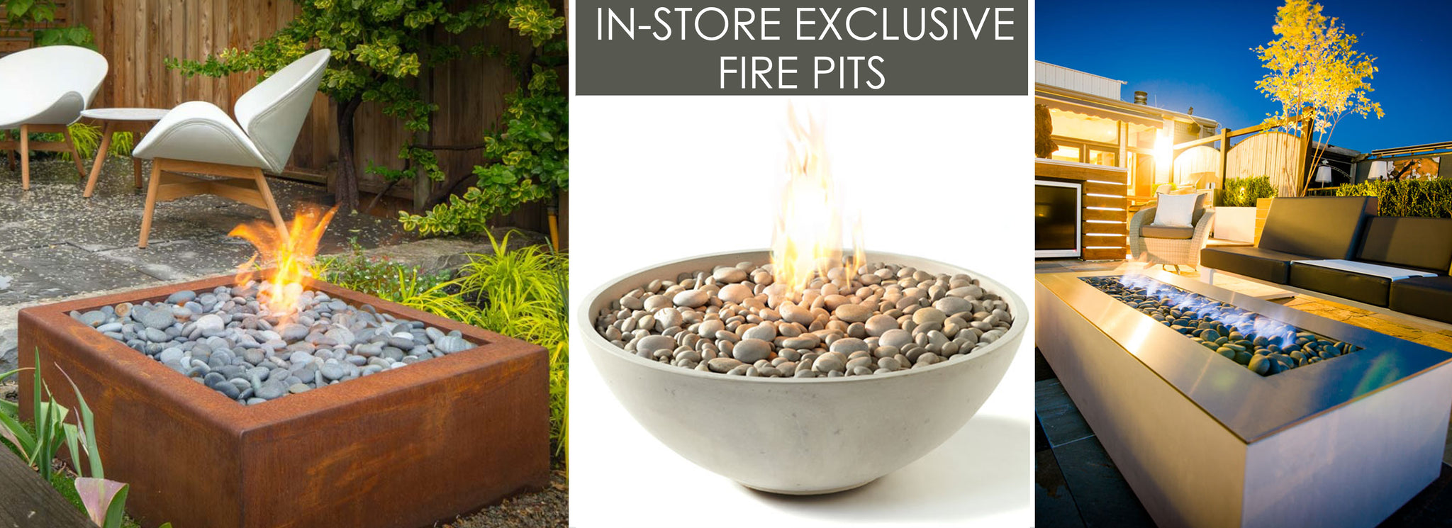 modern Outdoor Fire Pits Denver