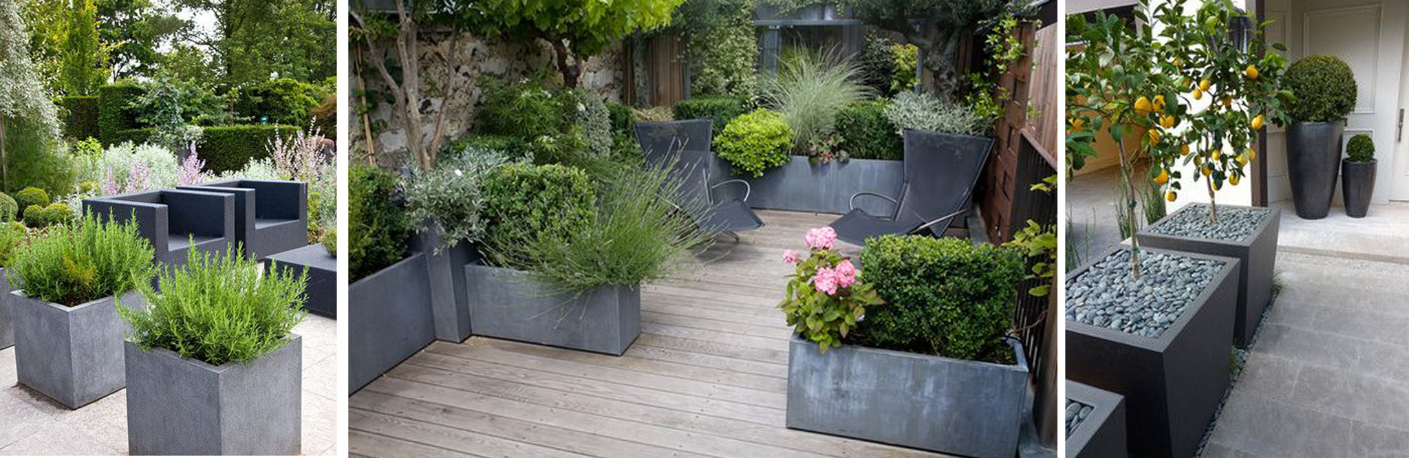 outdoor planters dividers