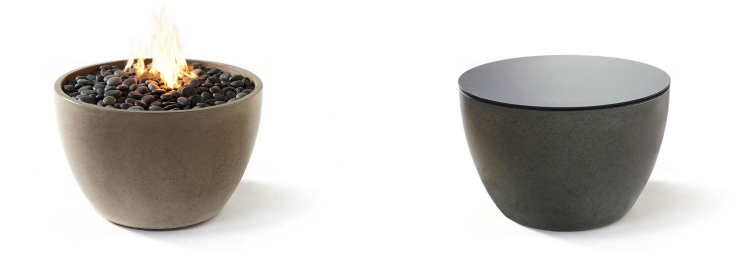 modern outdoor fire bowl soba by paloform