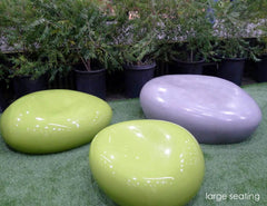 large outdoor seating pebbles