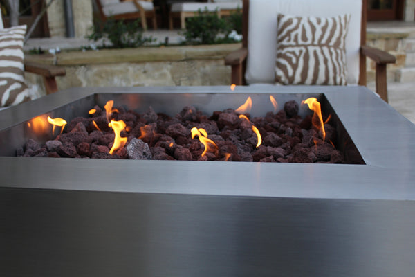 Stainless Steel Square Fire Pit Creative Living