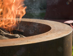 steel fire pit denver