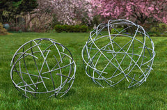 Modern Patio Furniture - Nest Zinc Spheres