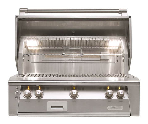 An image of the 36-inch Alfresco outdoor kitchen grill from Creative Living.