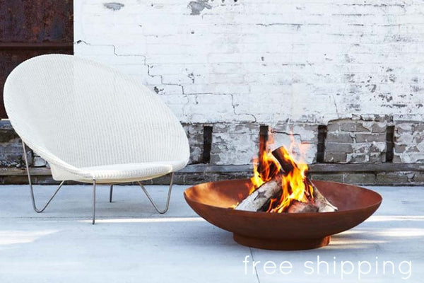 Rust Patina Steel Fire Bowl