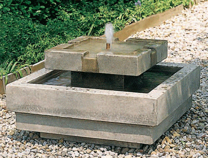 An image of the Escala modern fountain in natural grey from Creative Living.