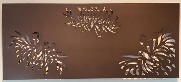 FLOATING FLORA OUTDOOR WALL ART