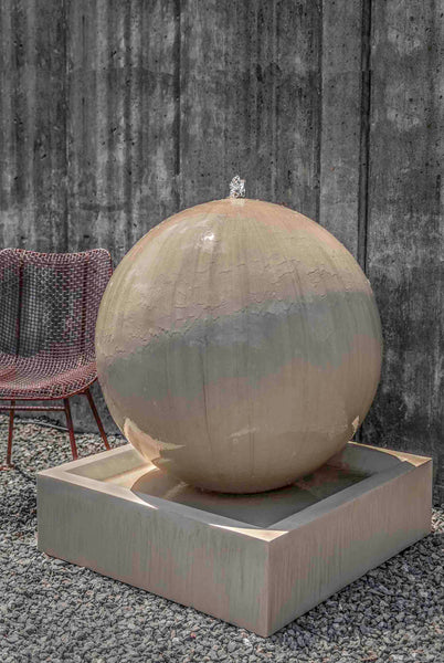 An image of the Large Sphere modern fountain from Creative Living.