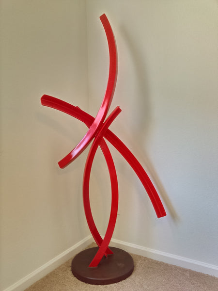 POWDER COATED STEEL SCULPTURE