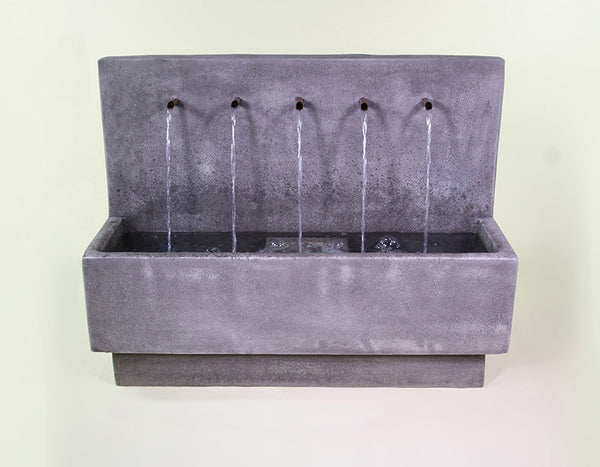 An image of the Penta Wall modern Fountain in the color Slate from Creative Living.