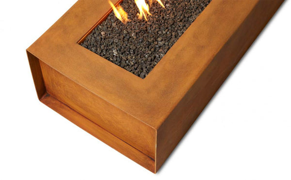 Cor Ten Steel Robata Lineat Fire Pit Denver Colorado
