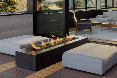 An image of the Robata modern fire pit from Creative Living.