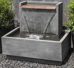 modern outdoor fountain denver