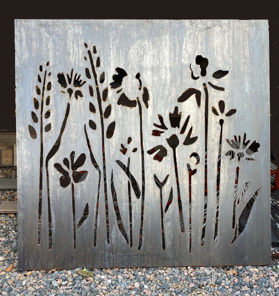 WILDFLOWERS 1 OUTDOOR WALL ART