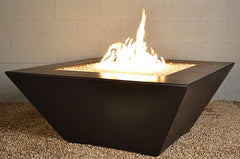 Modern Fire Pit - Zoid Square Fire Table