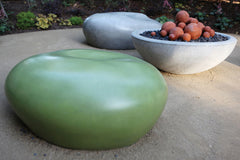 outdoor concrete seating pebble