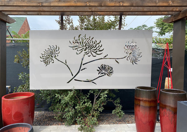 FLORAL OUTDOOR WALL  ART