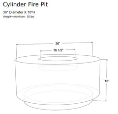 CYLINDER OUTDOOR FIRE PIT