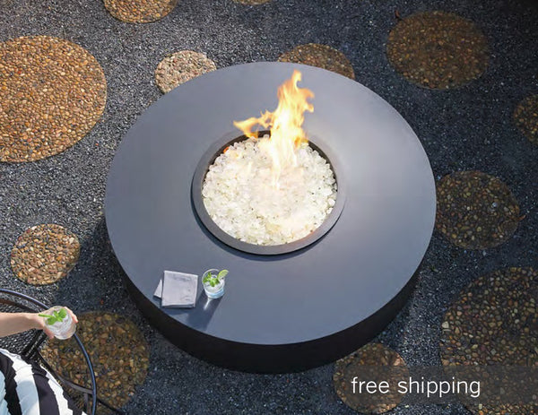 Cylinder Fire Pit by Ore